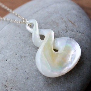 Mother of Pearl Double Twist Necklace